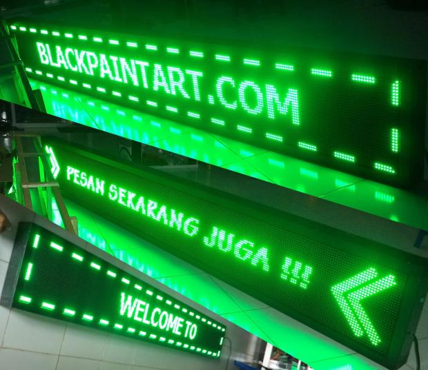 running text pekanbaru murah a