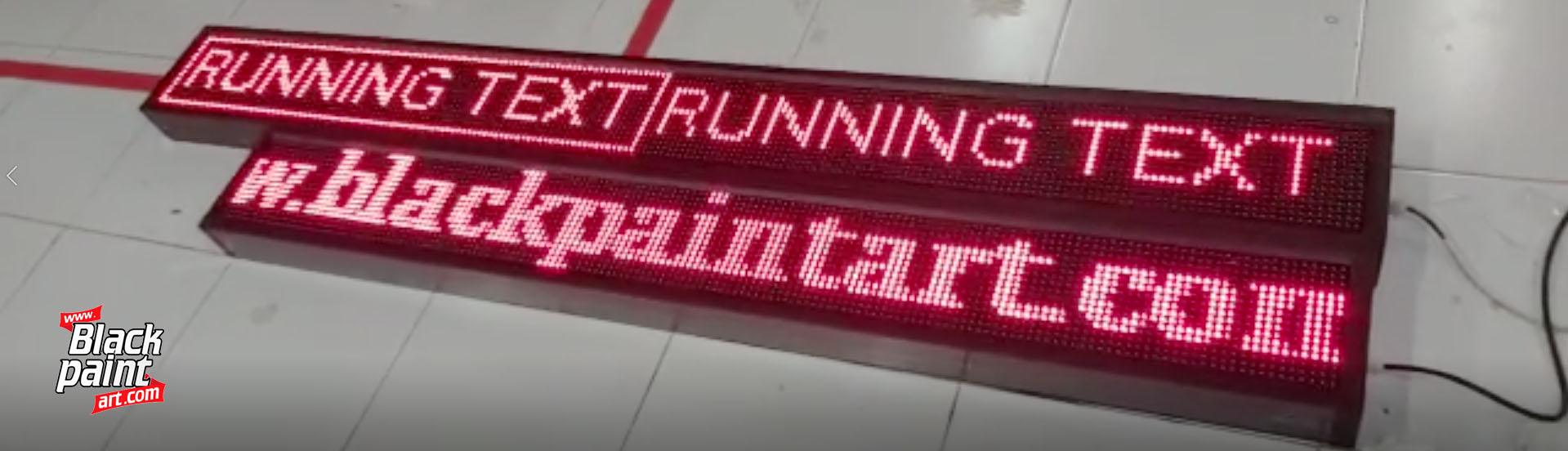 Halo! Anda sedang mencari dimana Tempat Buat Running Text di Pekanbaru? Anda tidak perlu susah susah mencarinya, karena kami di Blackpaint Print Shop bisa melakukannya.